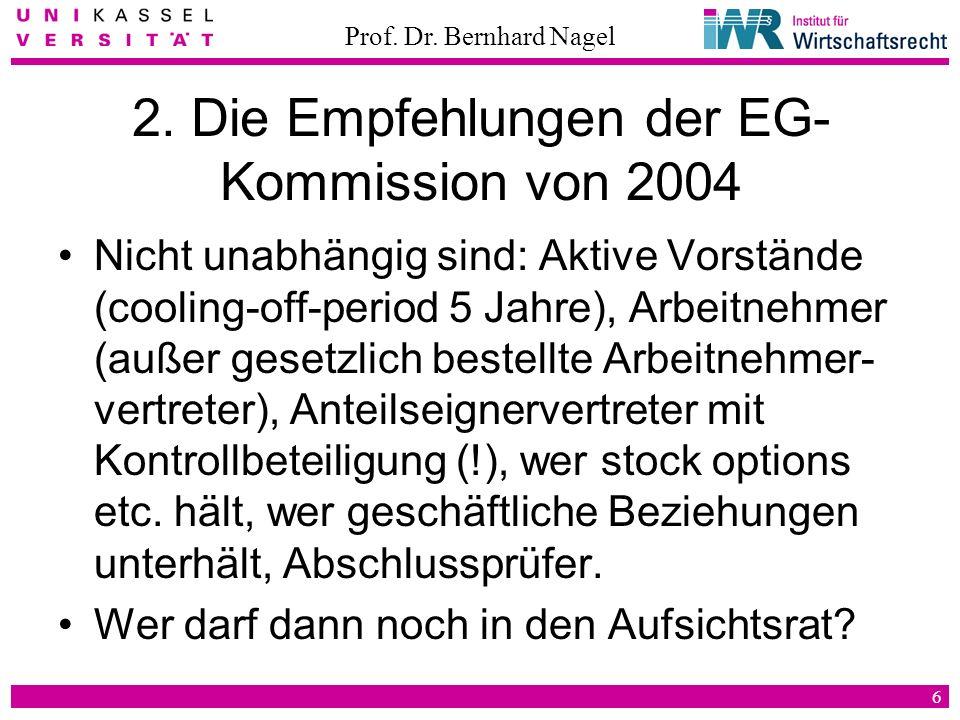 2. Die Empfehlungen der EG-Kommission von 2004