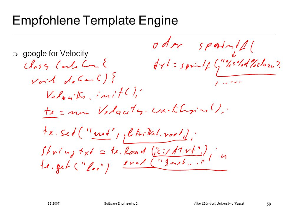 Empfohlene Template Engine