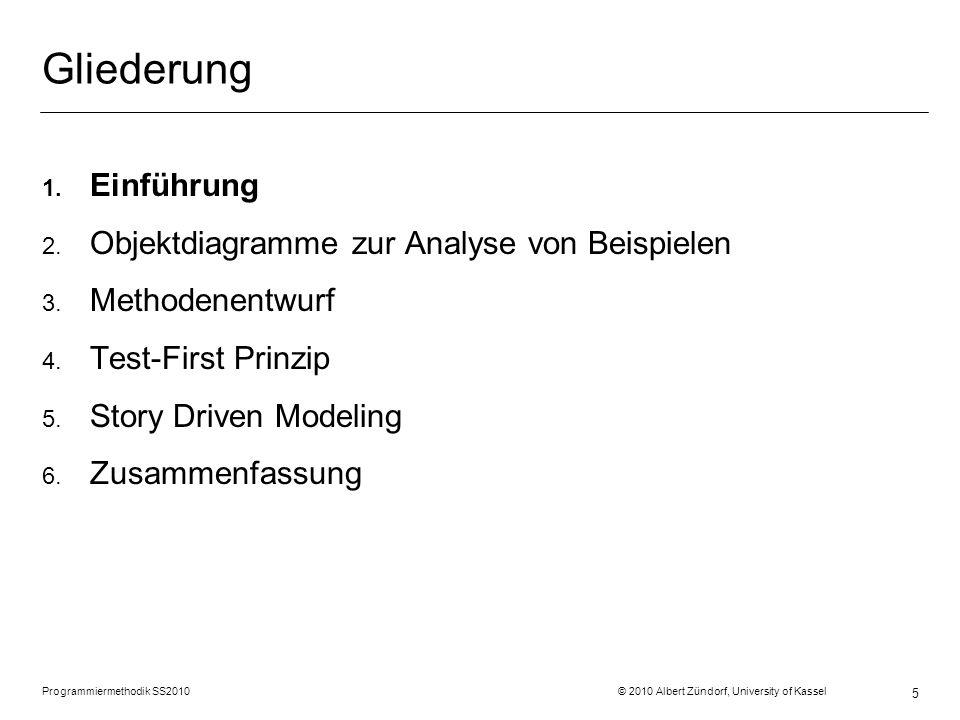 Gliederung Einführung Objektdiagramme zur Analyse von Beispielen