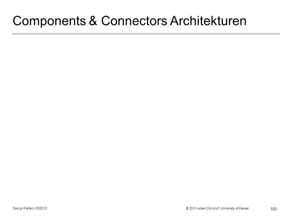 Components & Connectors Architekturen