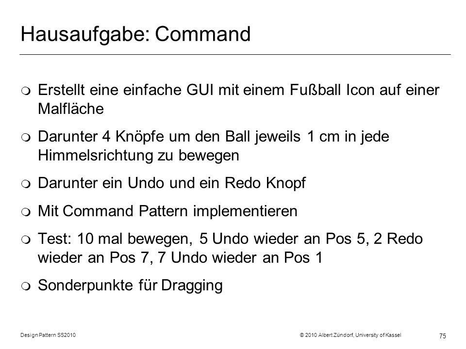 Hausaufgabe: Command Erstellt eine einfache GUI mit einem Fußball Icon auf einer Malfläche.