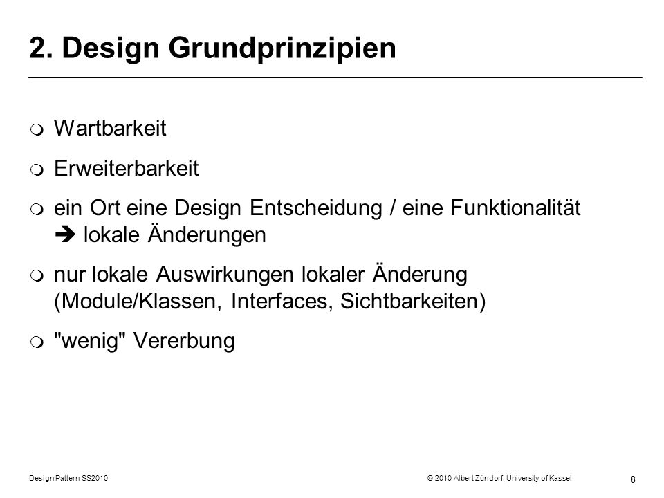 2. Design Grundprinzipien