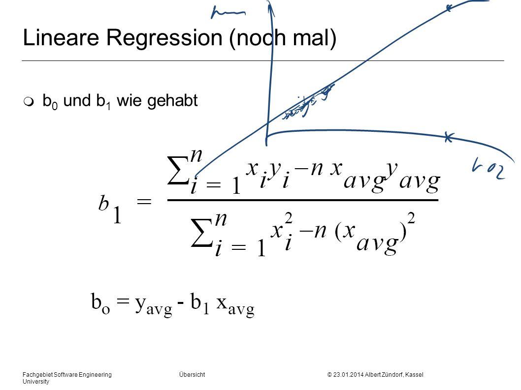 Lineare Regression (noch mal)