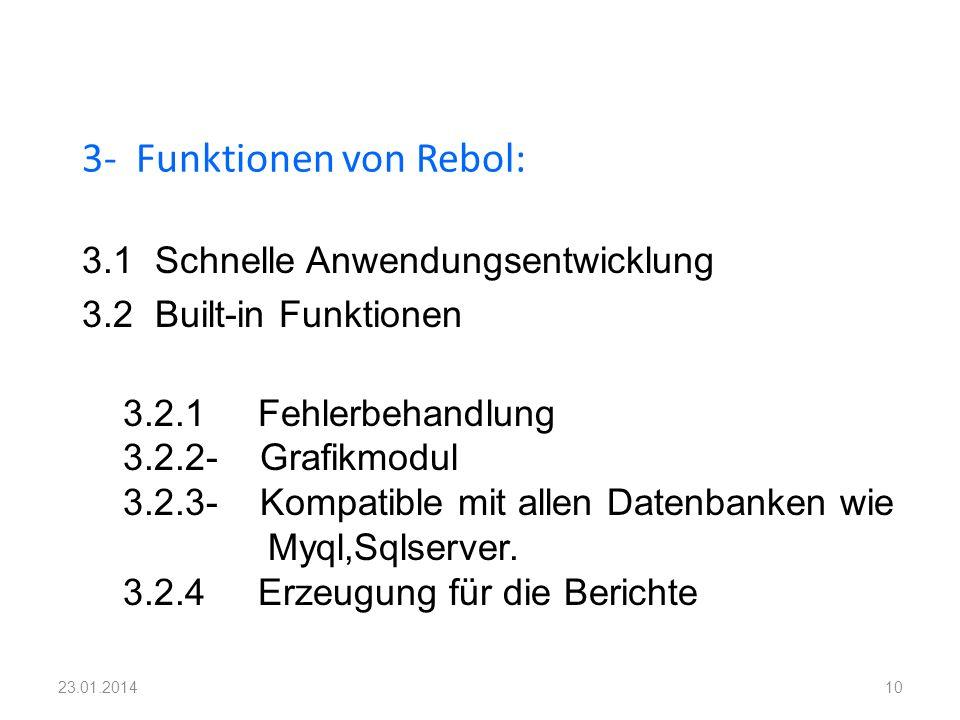 3- Funktionen von Rebol: