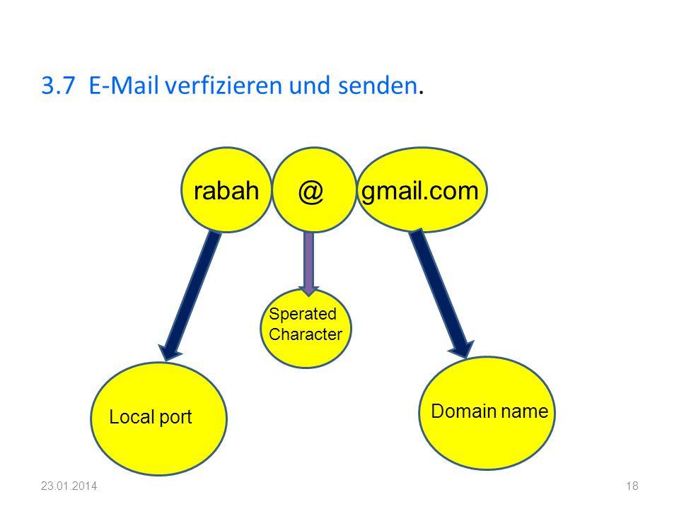 3.7 E-Mail verfizieren und senden.