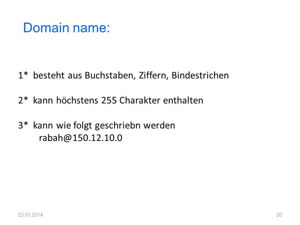 Domain name: