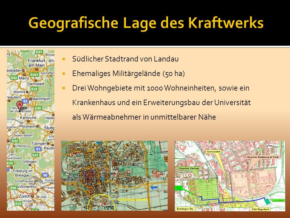 Geografische Lage des Kraftwerks
