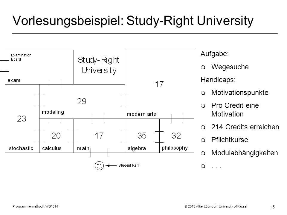 Vorlesungsbeispiel: Study-Right University
