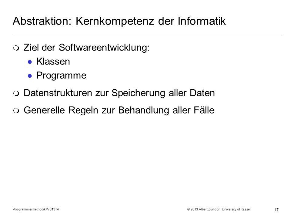 Abstraktion: Kernkompetenz der Informatik