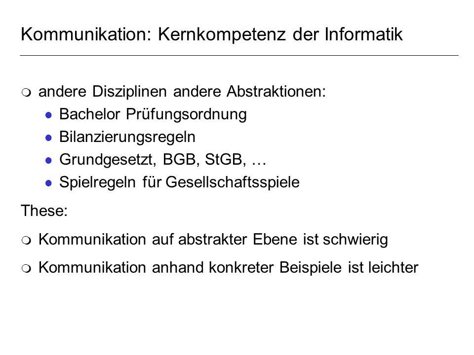 Kommunikation: Kernkompetenz der Informatik