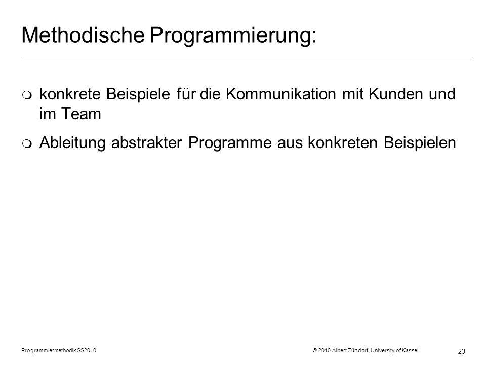 Methodische Programmierung: