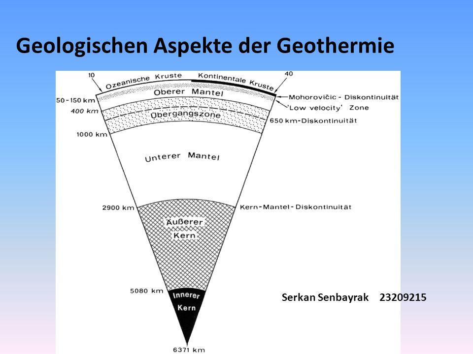 Geologischen Aspekte der Geothermie