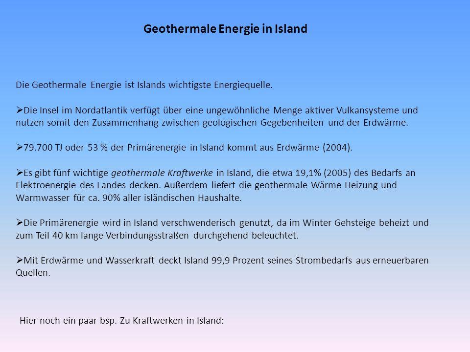 Geothermale Energie in Island