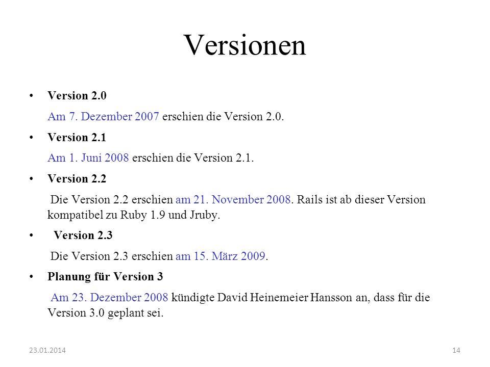 Versionen Version 2.0 Am 7. Dezember 2007 erschien die Version 2.0.