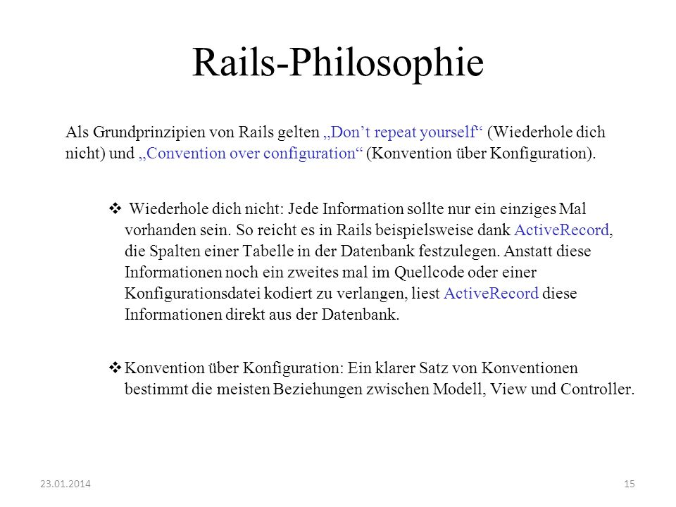 Rails-Philosophie