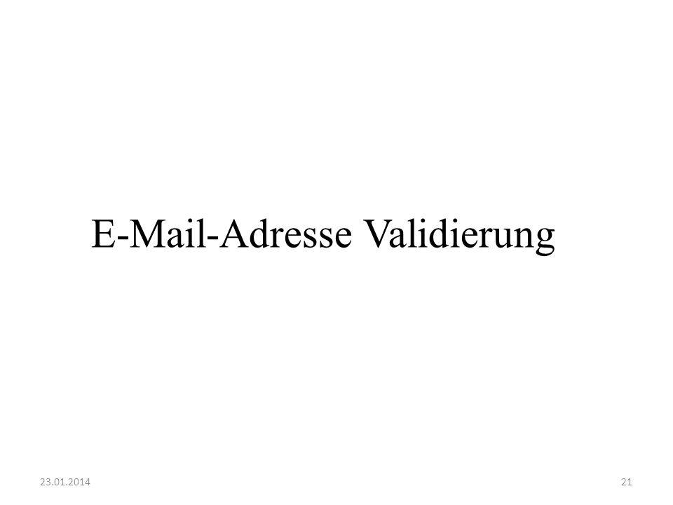 E-Mail-Adresse Validierung