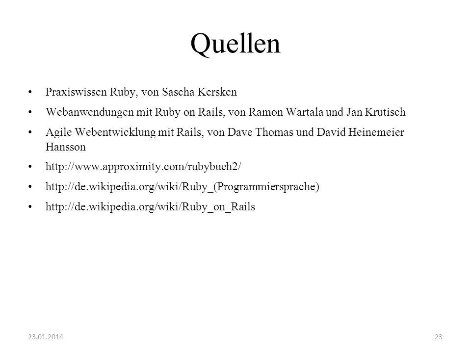 Quellen Praxiswissen Ruby, von Sascha Kersken