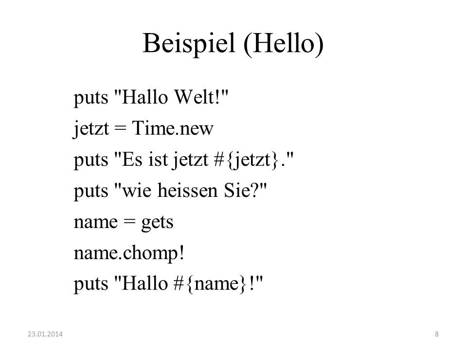 Beispiel (Hello)
