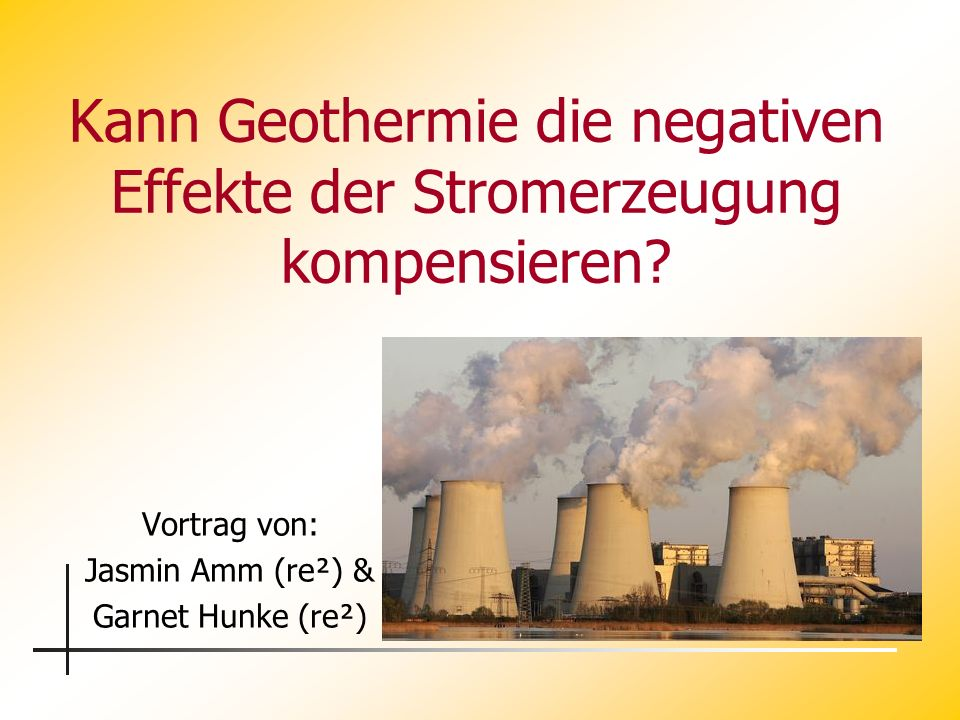 Kann Geothermie die negativen Effekte der Stromerzeugung kompensieren