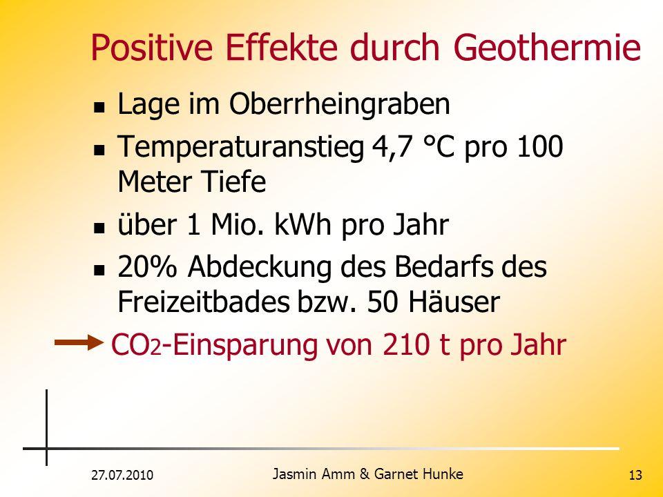 Positive Effekte durch Geothermie