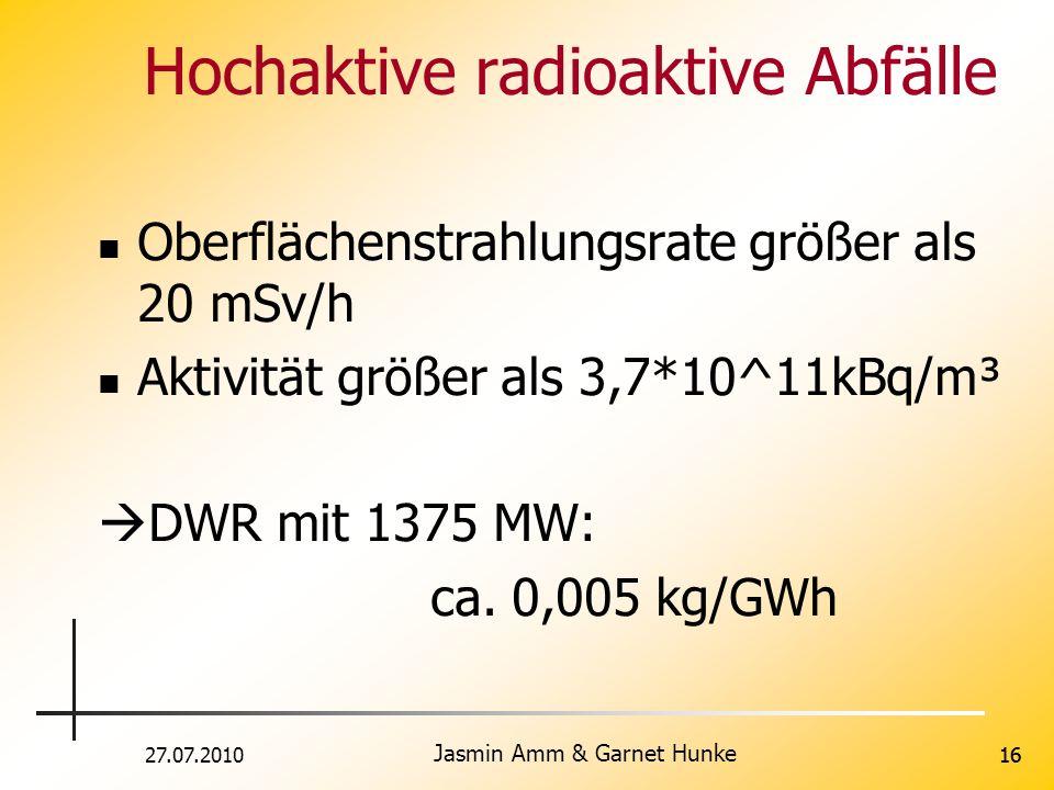 Hochaktive radioaktive Abfälle