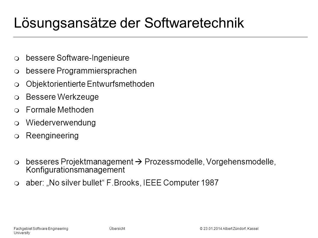 Lösungsansätze der Softwaretechnik
