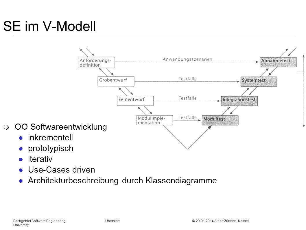 SE im V-Modell OO Softwareentwicklung inkrementell prototypisch
