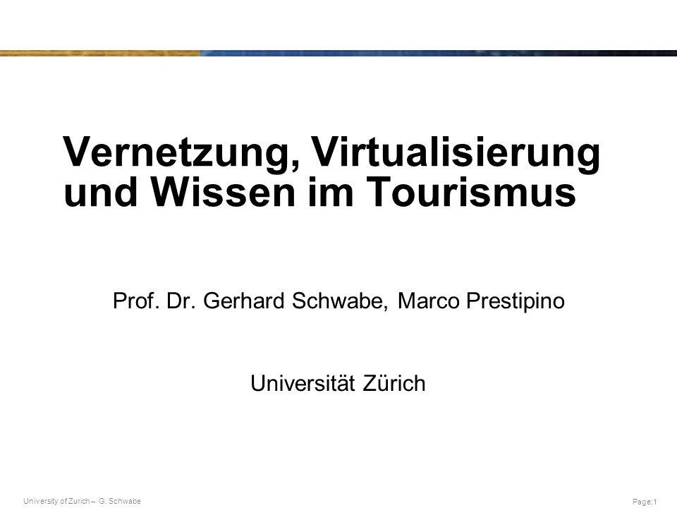 Vernetzung, Virtualisierung und Wissen im Tourismus