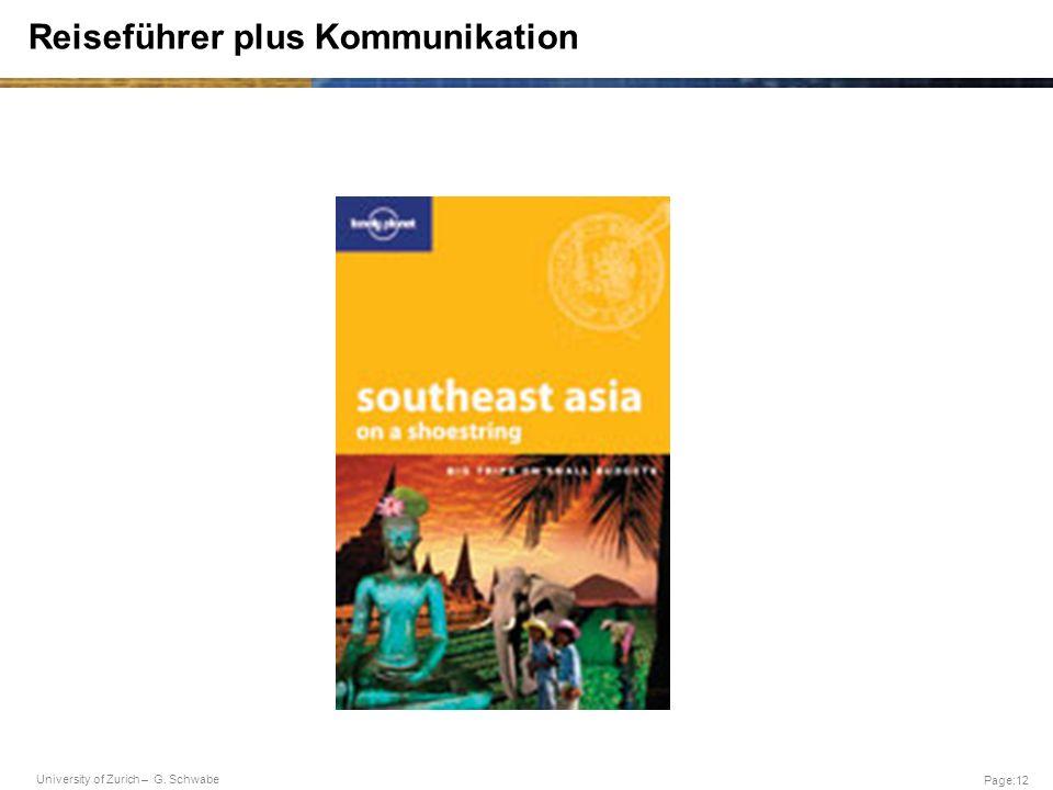 Reiseführer plus Kommunikation