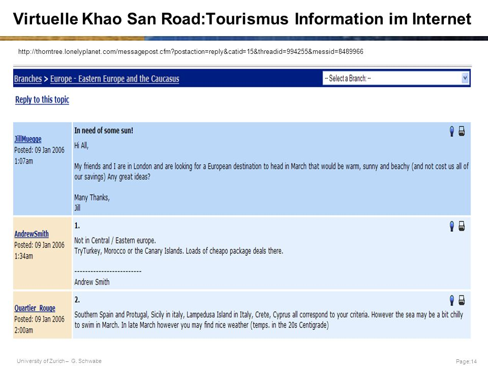 Virtuelle Khao San Road:Tourismus Information im Internet