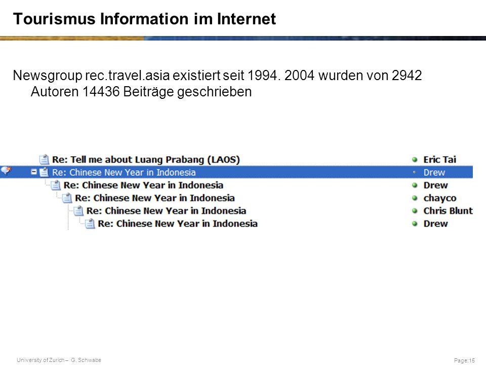 Tourismus Information im Internet