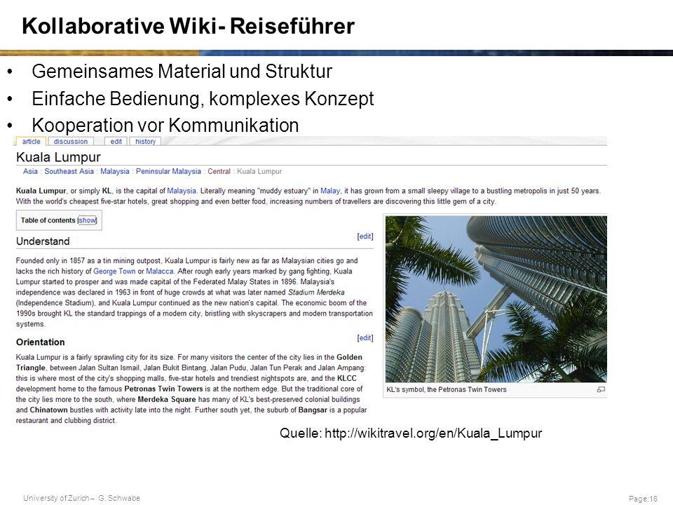 Kollaborative Wiki- Reiseführer