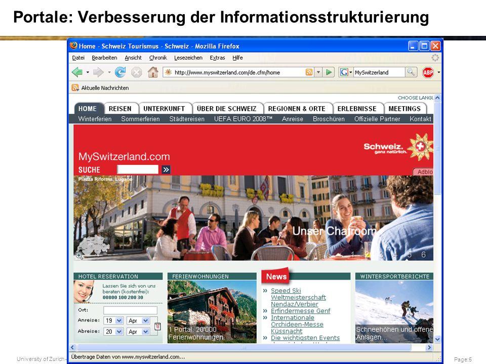 Portale: Verbesserung der Informationsstrukturierung