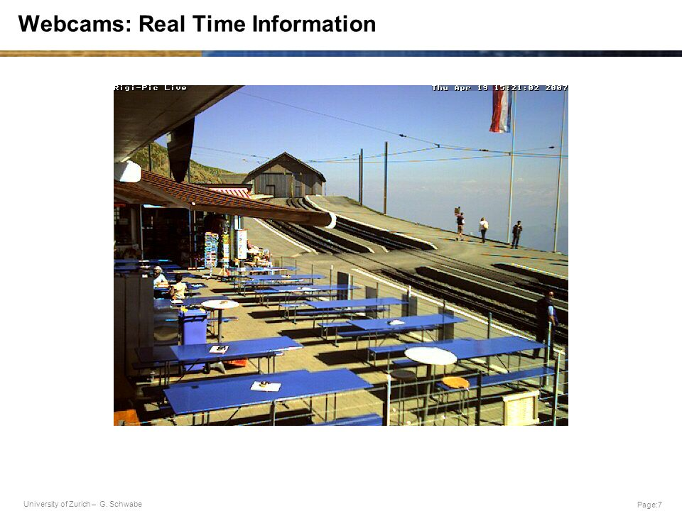 Webcams: Real Time Information