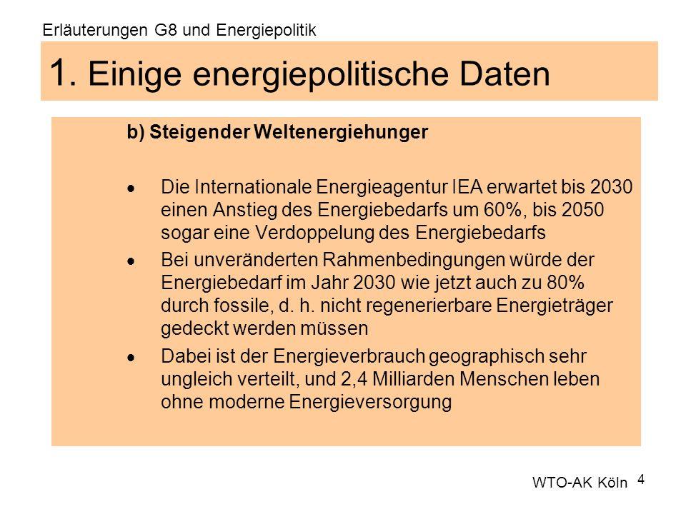 1. Einige energiepolitische Daten