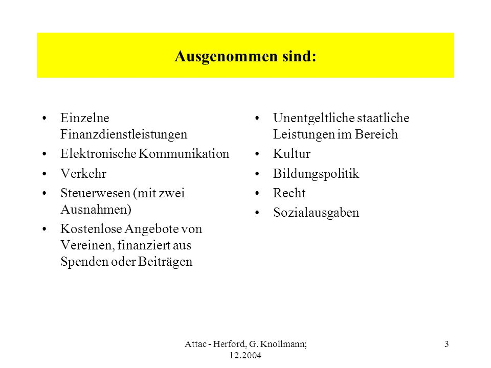 Attac - Herford, G. Knollmann; 12.2004