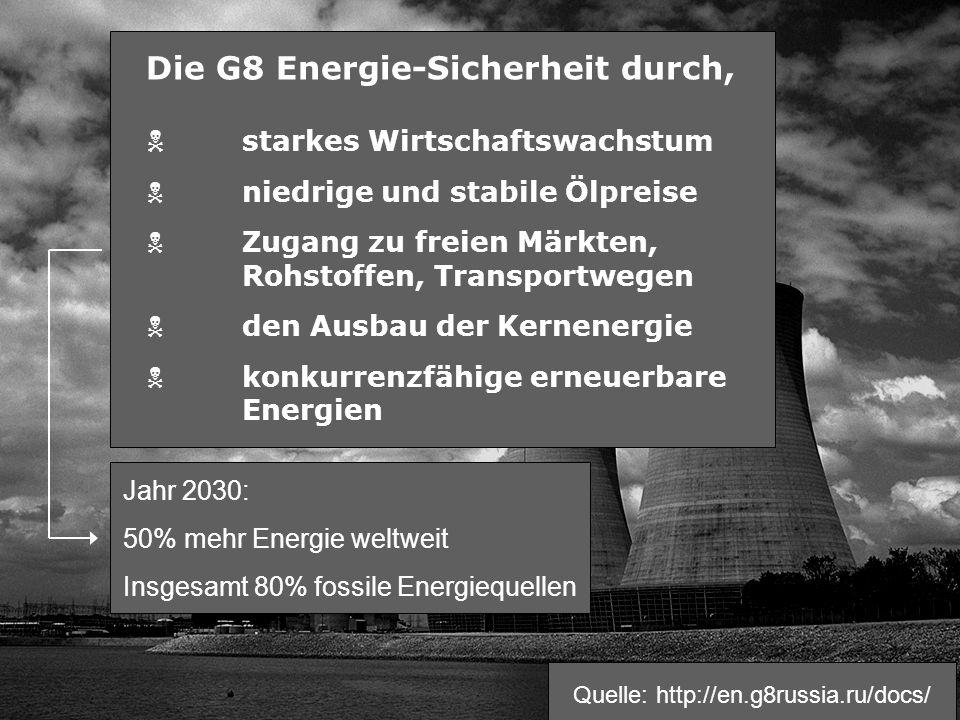 Die G8 Energie-Sicherheit durch,