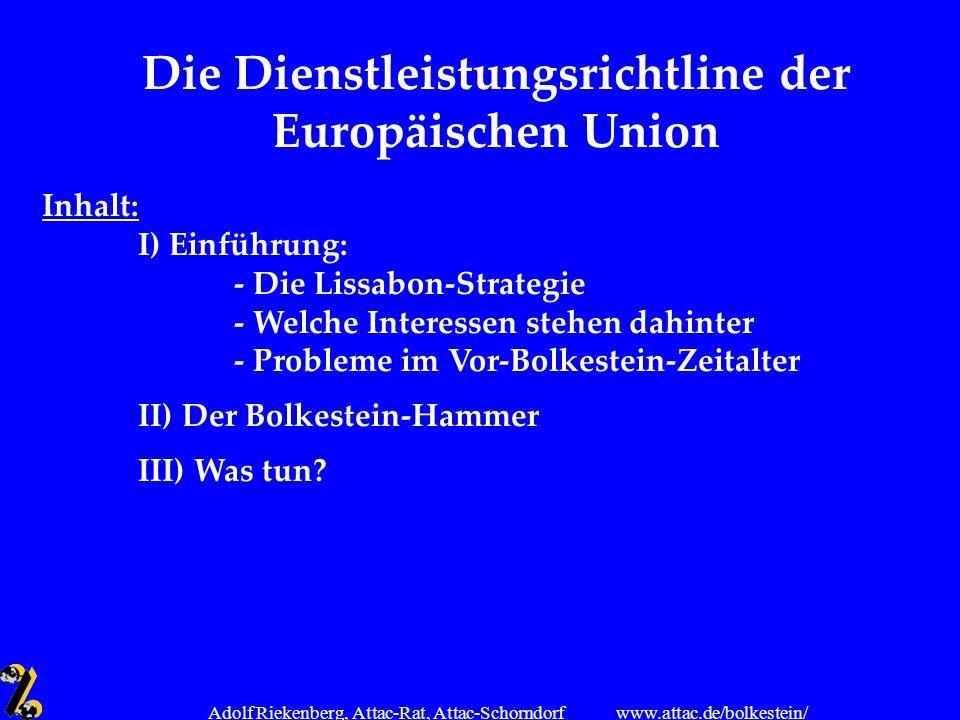 Die Dienstleistungsrichtline der Europäischen Union