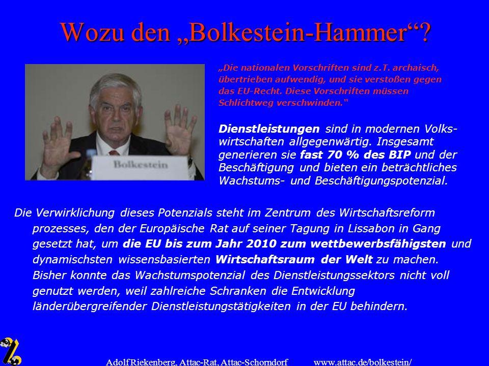 """Wozu den """"Bolkestein-Hammer"""