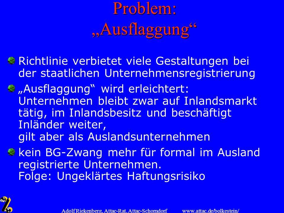 "Problem: ""Ausflaggung"