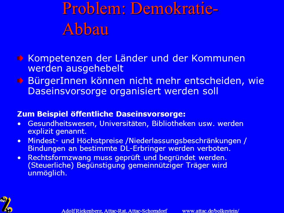 Problem: Demokratie-Abbau