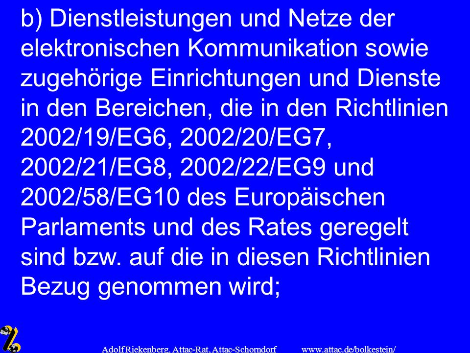 Adolf Riekenberg, Attac-Rat, Attac-Schorndorf