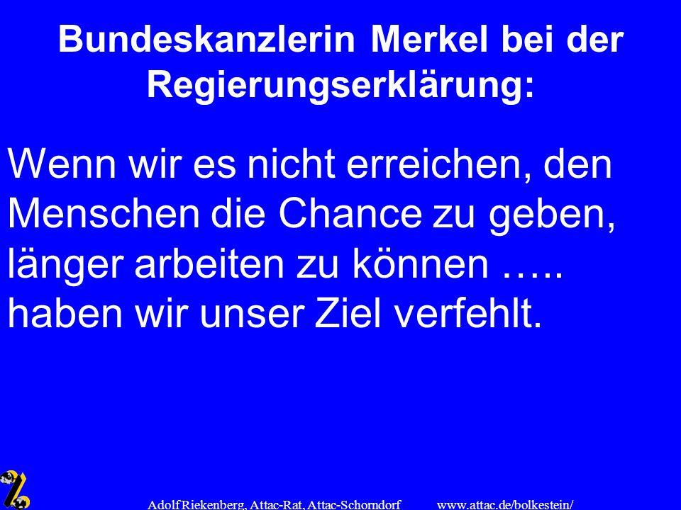 Bundeskanzlerin Merkel bei der Regierungserklärung: