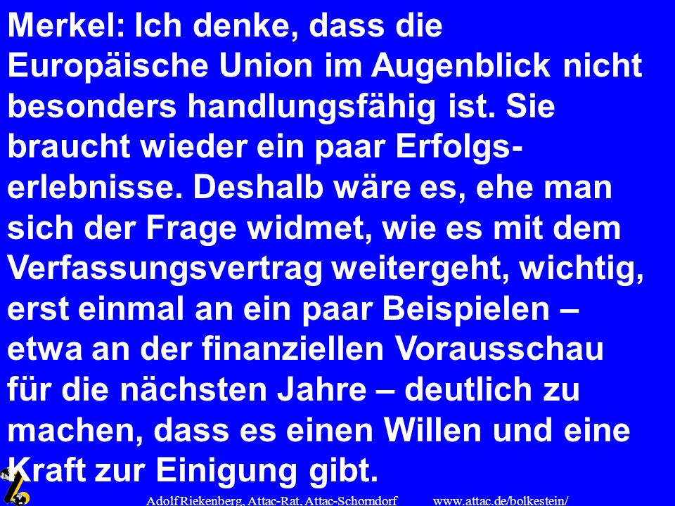 Adolf Riekenberg, Attac-Rat, Attac-Schorndorf