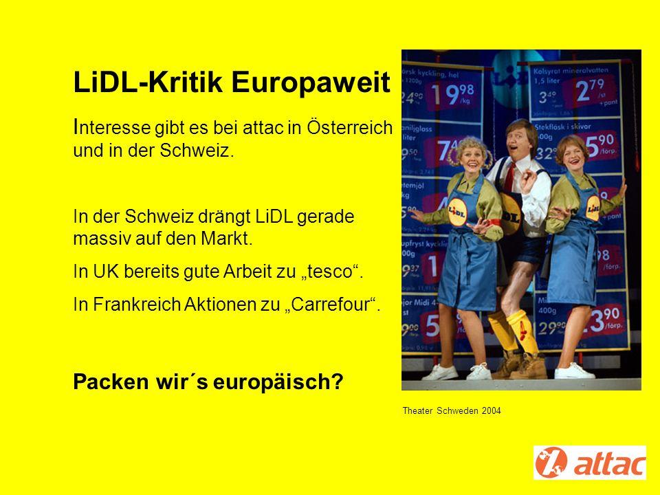 LiDL-Kritik Europaweit