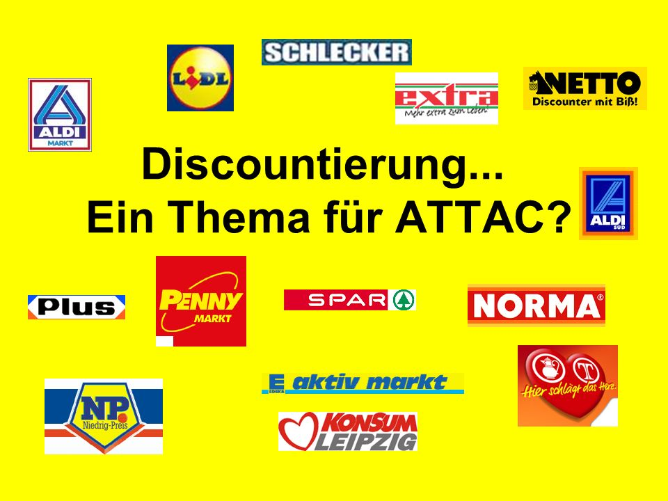 Discountierung... Ein Thema für ATTAC