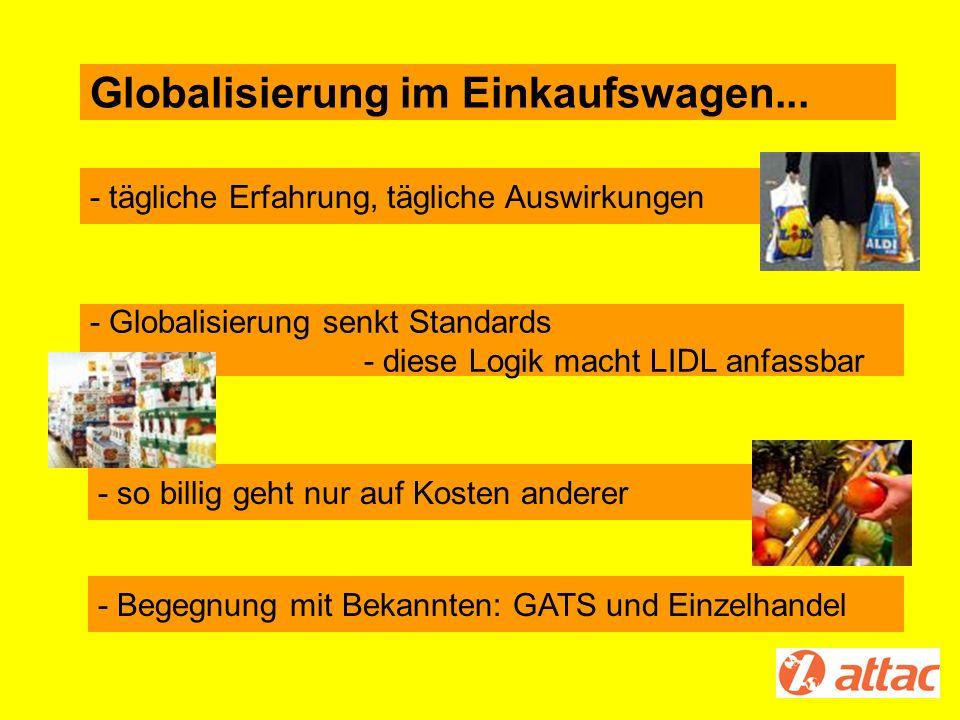 Globalisierung im Einkaufswagen...