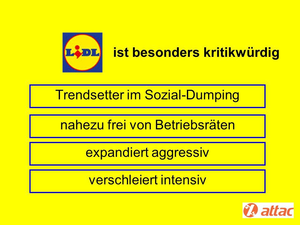 Trendsetter im Sozial-Dumping