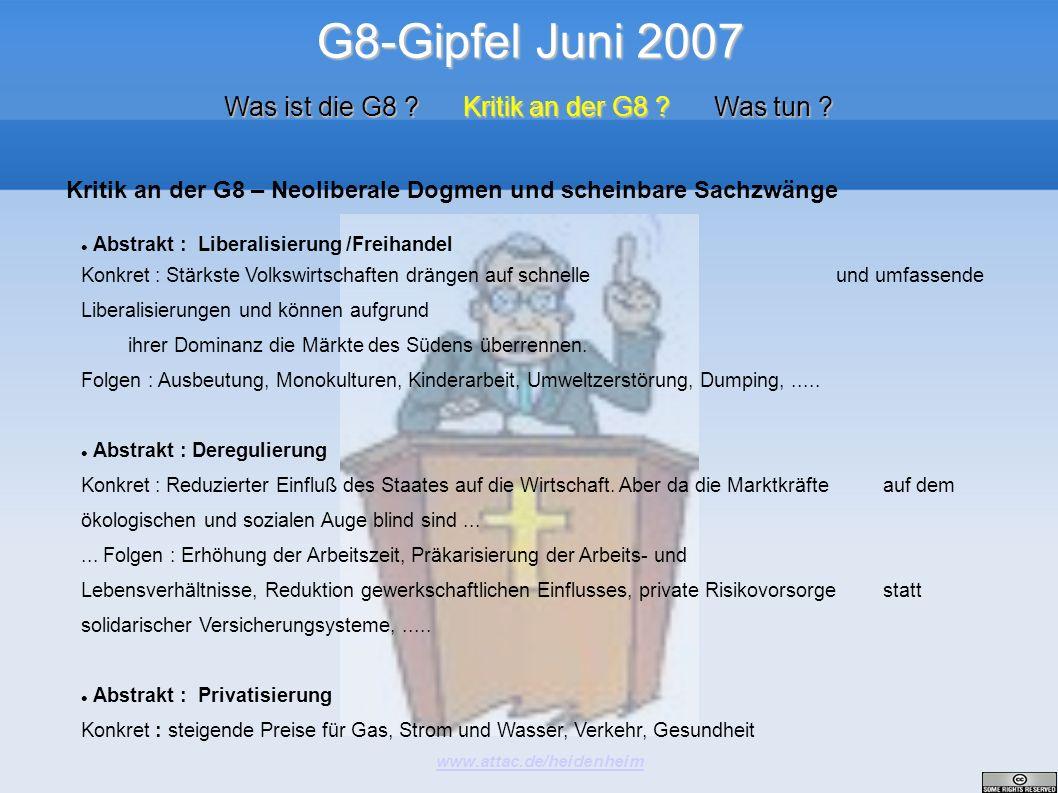 Was ist die G8 Kritik an der G8 Was tun