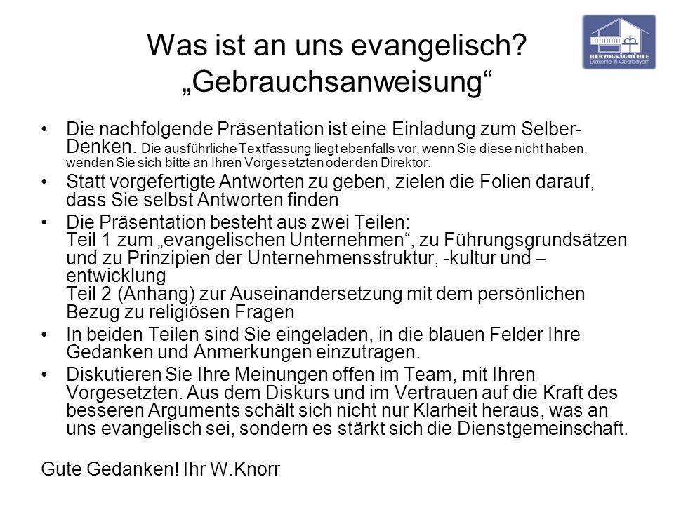 """Was ist an uns evangelisch """"Gebrauchsanweisung"""